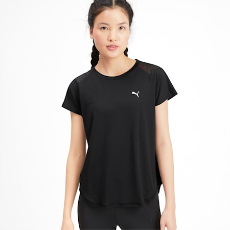 スタジオ SS メッシュ ウィメンズ トレーニング Tシャツ 半袖, Puma Black, small-JPN