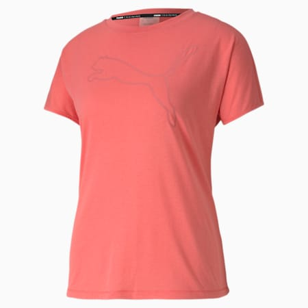 FAVORITE キャット SS ウィメンズ トレーニング Tシャツ 半袖, Ignite Pink, small-JPN