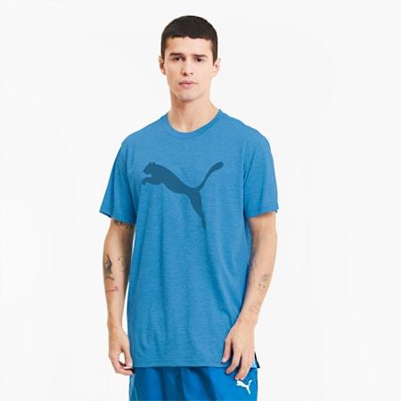 FAVORITE  ヘザー キャット SS トレーニング Tシャツ 半袖, Nrgy Blue Heather, small-JPN