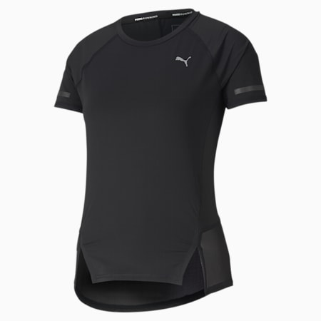 Runner ID Women's Training Tee, Puma Black, small