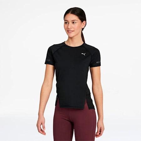 Camiseta Runner ID para mujer, Puma Black, pequeño