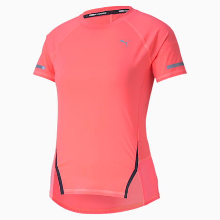 Runner ID Women's Training Tee, Ignite Pink, small-SEA