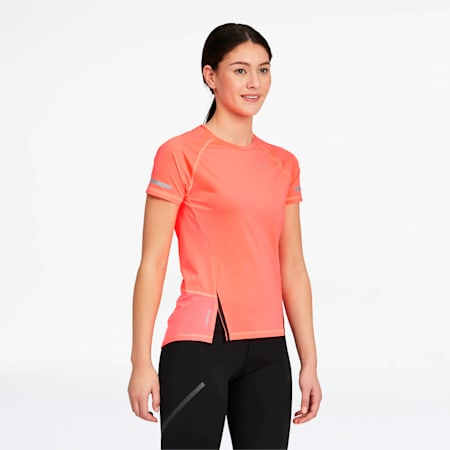 T-shirt Runner ID, femme, Rose Ignite, petit