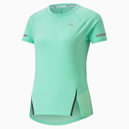 Runner ID Women's Training Tee, Green Glimmer, small