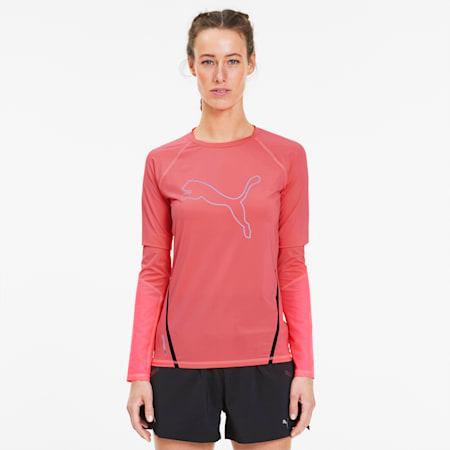 Camiseta de mangas largas Runner ID para mujer, Ignite Pink, pequeño