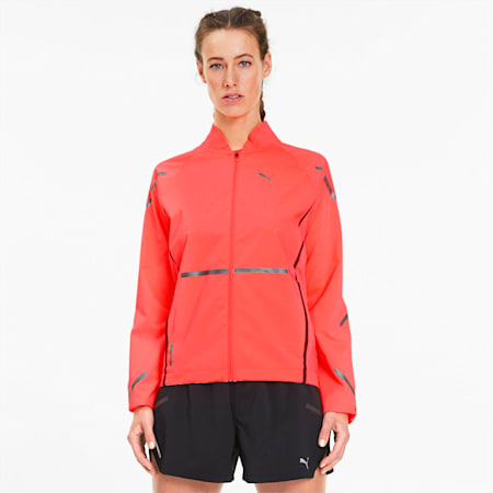 Runner ID Women's Running Jacket, Ignite Pink, small