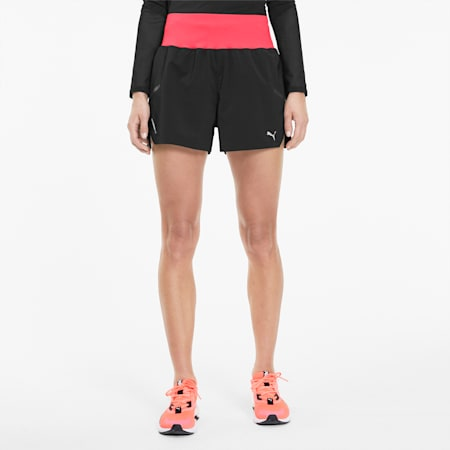 "Runner ID 3"" Women's Training Shorts, Puma Black-Ignite Pink, small-SEA"
