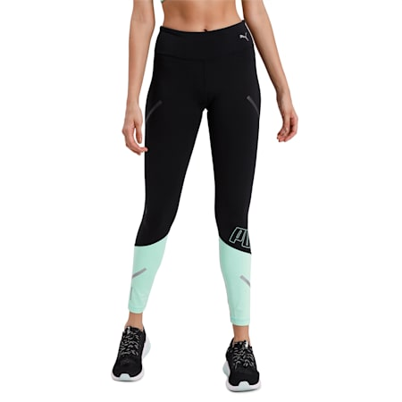 Runner ID Thermo-R+ Tight, Puma Black-Green Glimmer, small-IND