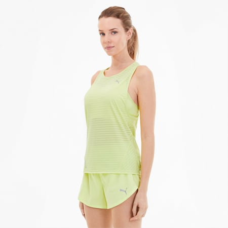 Last Lap Excite Women's Summer Tank, Sunny Lime, small