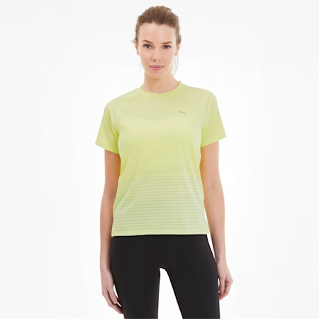 Last Lap Excite Women's Summer Tee, Sunny Lime, small