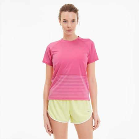 Last Lap Excite Summer Women's Running Tee, Bubblegum, small