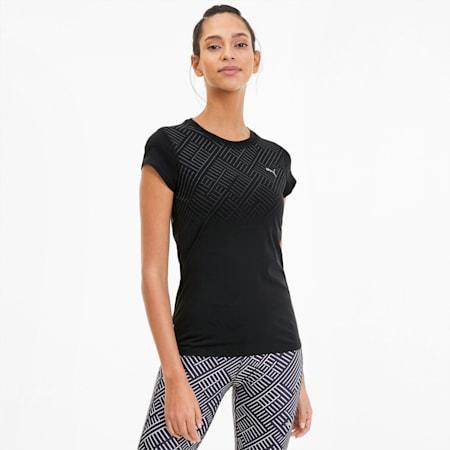 Last Lap Graphic Women's Running Tee, Puma Black, small-GBR