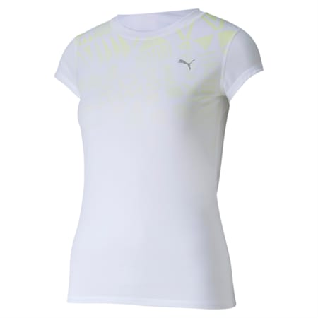 Last Lap dryCELL Graphic T-Shirt, Puma White-Sunny Lime, small-IND