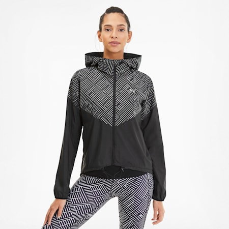 Last Lap Hooded Women's Running Jacket, Puma Black, small