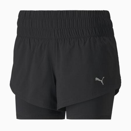 Last Lap 2-in-1 Damen Training Shorts, Puma Black, small