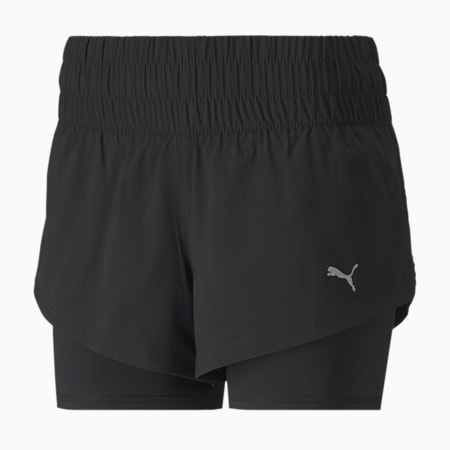 Last Lap 2-in-1 Women's Training Shorts, Puma Black, small