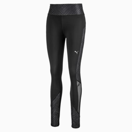 Last Lap Graphic Long Women's Running Tights, Puma Black, small-SEA
