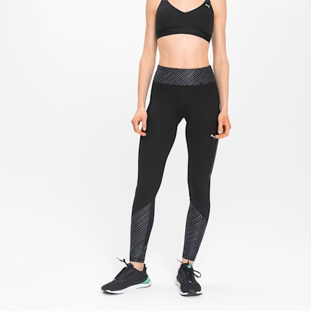 Last Lap Graphic Long Women's Running Tights, Puma Black, small