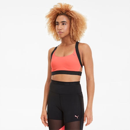 THERMO R+-sports-bh til kvinder, Ignite Pink-Puma Black, small