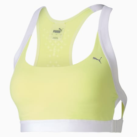 THERMO R+ Women's Training Bra, Sunny Lime-Puma White, small