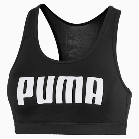 4Keeps Bra PM Women's Training Bra, Puma Black-Puma White PUMA, small-SEA