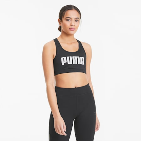 4Keeps Bra PM Women's Training Bra, Puma Black-Puma White PUMA, small-SEA