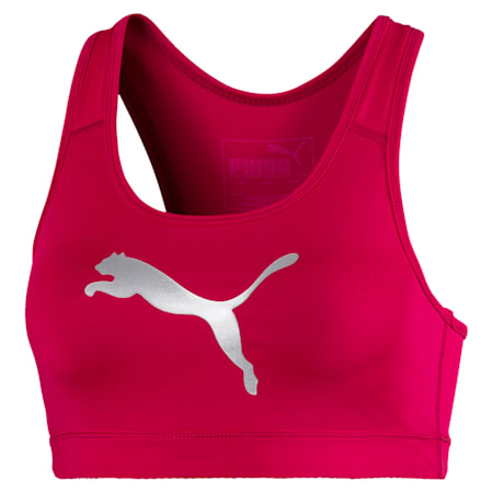 Mid Impact 4Keeps Women's Training Bra, BRIGHT ROSE-Silver Cat, small-IND