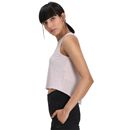 Studio Women's Crop Lace Tank, Rosewater, small-IND