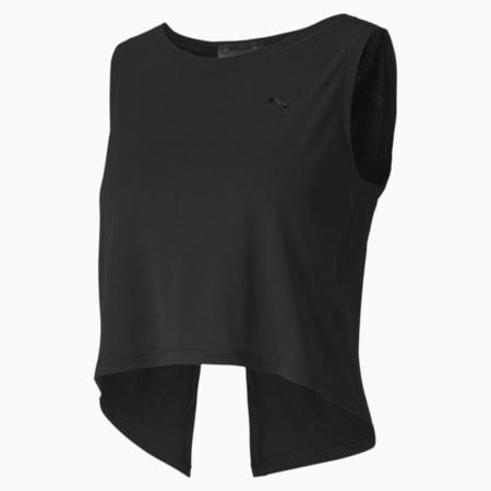 Studio Crop Lace Women's Tank Top, Puma Black, small-SEA