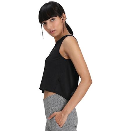 Studio Women's Crop Lace Tank, Puma Black, small-IND