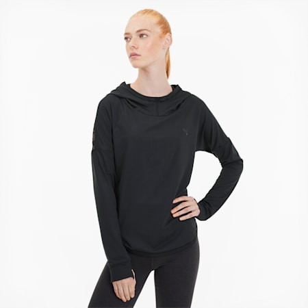 Studio Lace Women's Training Hoodie, Puma Black, small