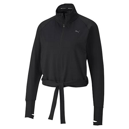 Studio Women's Raglan Sleeves Adjustable Jacket, Puma Black, small-IND