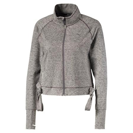 Studio Women's Raglan Sleeves Adjustable Jacket, Medium Gray Heather, small-IND