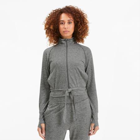 Chaqueta de entrenamiento para mujer Studio Adjustable Knitted, Medium Gray Heather, small