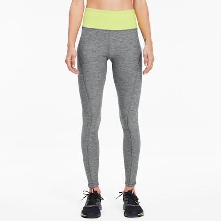Studio Luxe Eclipse Women's 7/8 Leggings, Med Gray Htr-Sunny Lime Htr, small