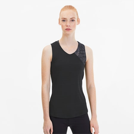 Studio Graphic Mesh Women's Training Tank Top, Puma Black, small