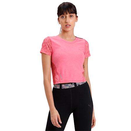 Studio Graphic Mesh Women's T-Shirt, Bubblegum Heather, small-IND