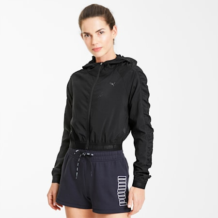 Be Bold Woven Women's Training Jacket, Puma Black, small