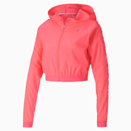 Be Bold Woven Women's Training Jacket, Ignite Pink, small-SEA