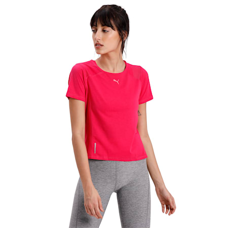 Be Bold Mesh Women's T-Shirt, BRIGHT ROSE, small-IND