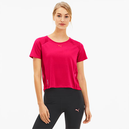 Be Bold Mesh Women's Training Tee, BRIGHT ROSE, small-SEA