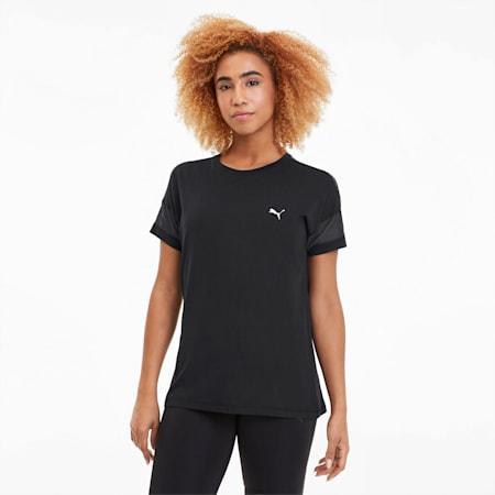 Feel It Damen Training Mesh Logo T-Shirt, Puma Black, small