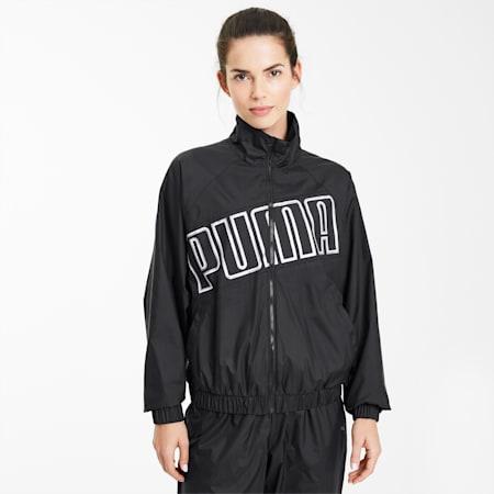 Feel It Woven Windbreaker Women's Training Jacket, Puma Black, small-SEA