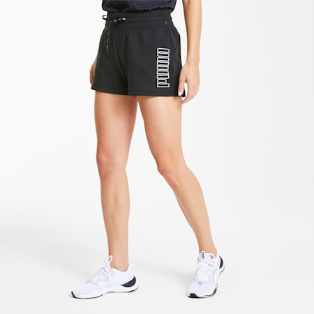 Shorts da training da donna Feel It Knitted, Puma Black, small