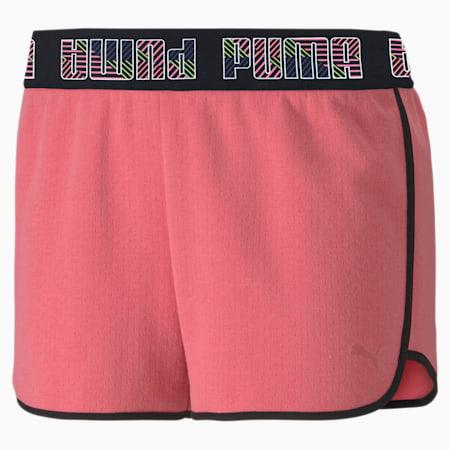 Feel It Women's Elastic Shorts, Bubblegum, small