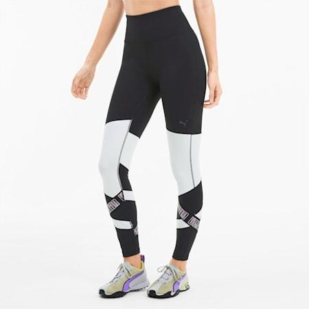 Leggings elastizados 7/8 Feel It para mujer, Puma Black-Puma White, pequeño