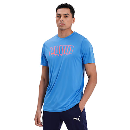 Last Lap Slogan dryCELL T-Shirt, Palace Blue, small-IND