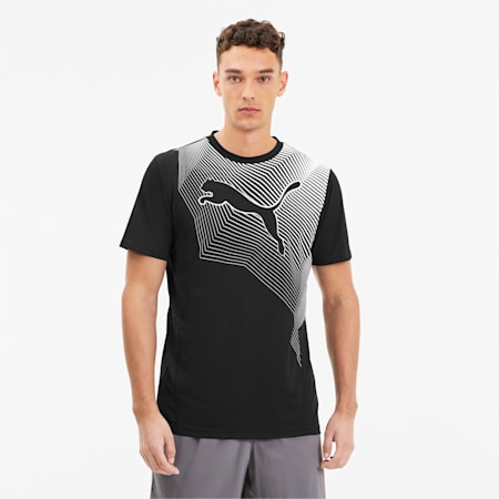 Last Lap Graphic Cat dryCELL T-Shirt, Puma Black, small-IND
