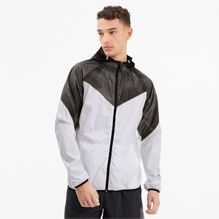 Last Lap Reflective Tec Graphic Jacket, Puma White, small-IND