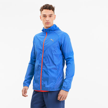 Last Lap Lightweight-løbejakke til mænd, Palace Blue, small